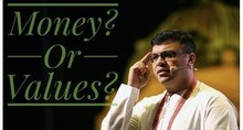 dr sanjay tolani giving speech about money or values